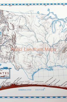 Map Of Texas Landforms.Raisz Landform Maps