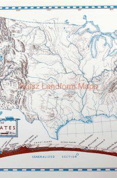 Landform Map Of Texas.Raisz Landform Maps