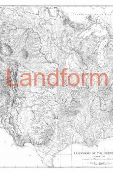 Raisz Landform Maps on